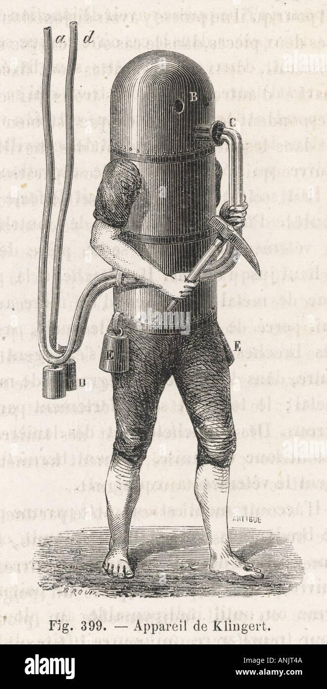 Les plongeurs américains suit Photo Stock