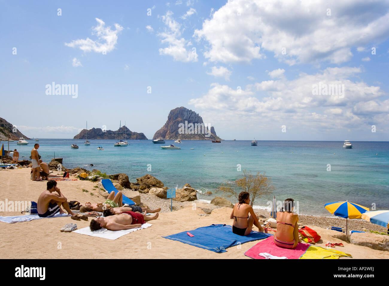 De l'Île Cala d'Hort, Es Vedra, Ibiza, Baléares, Espagne Photo Stock