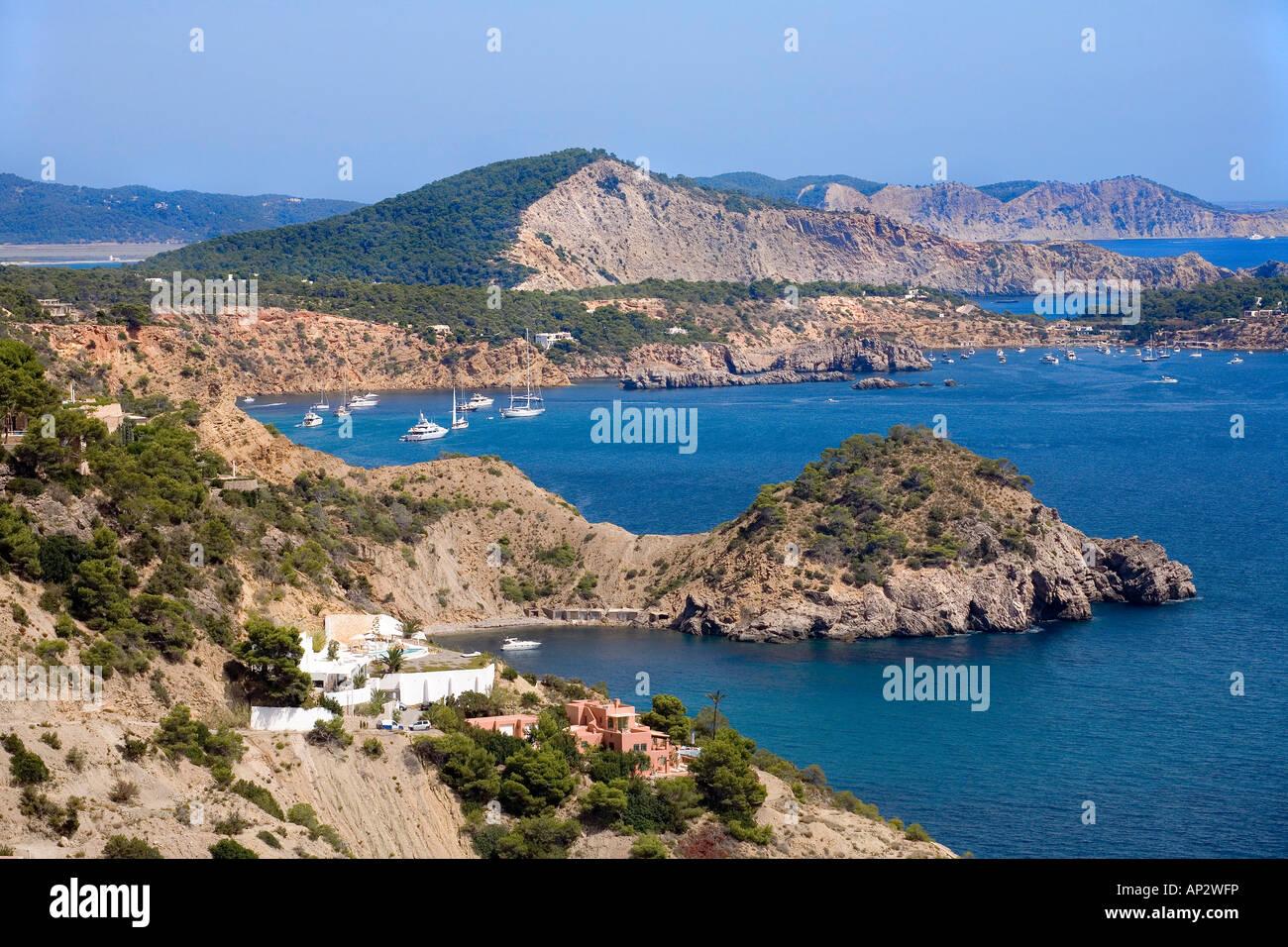 Es Cubells, Ibiza, Baléares, Espagne Photo Stock