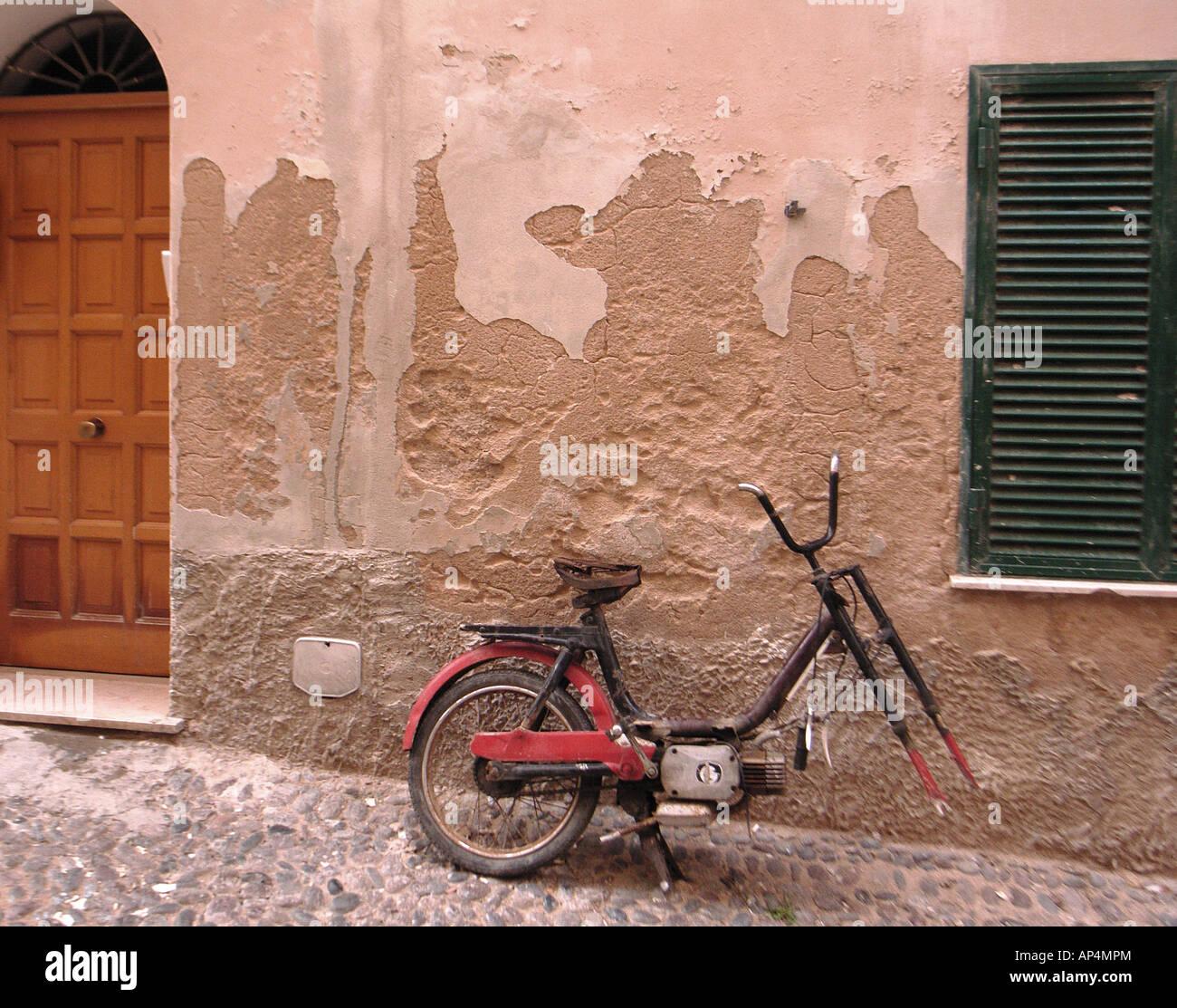 Un vélo dans une ambiance italienne très Photo Stock