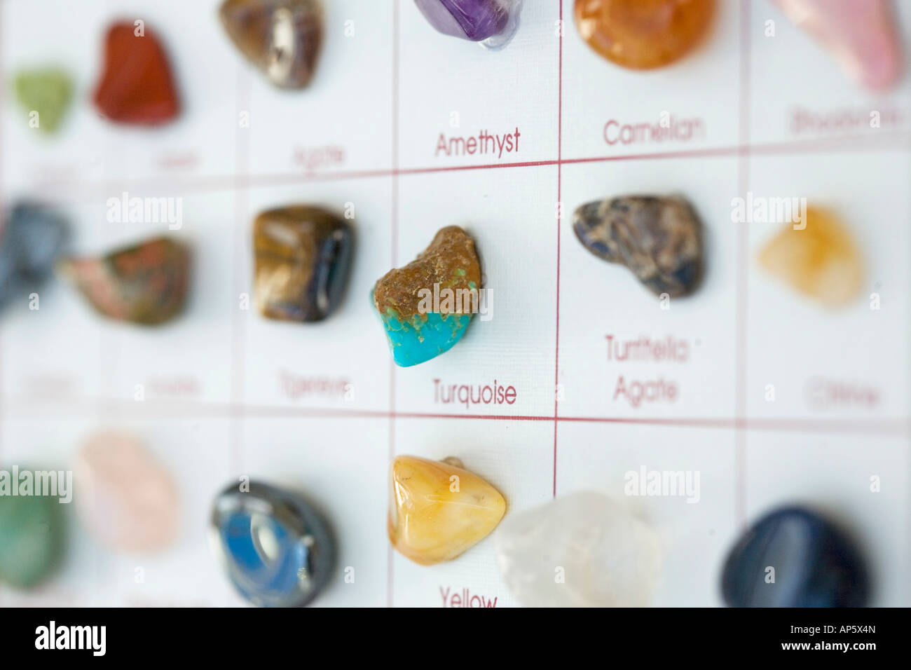Rock collection focus torquise peu profondes Photo Stock