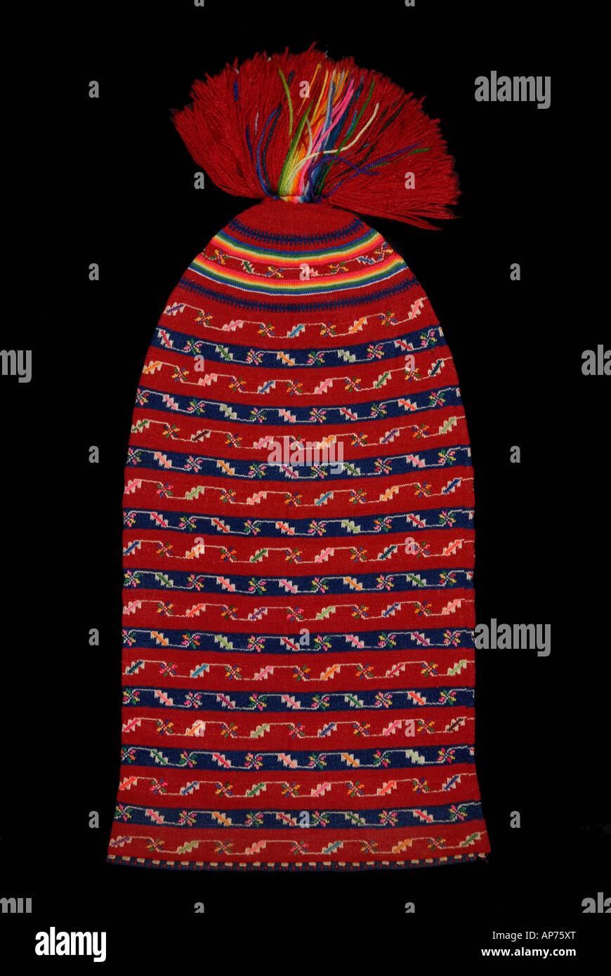 Bonnet de laine tricoté coloré de l île de Taquile Lac Titicaca au Pérou 64dc5100012