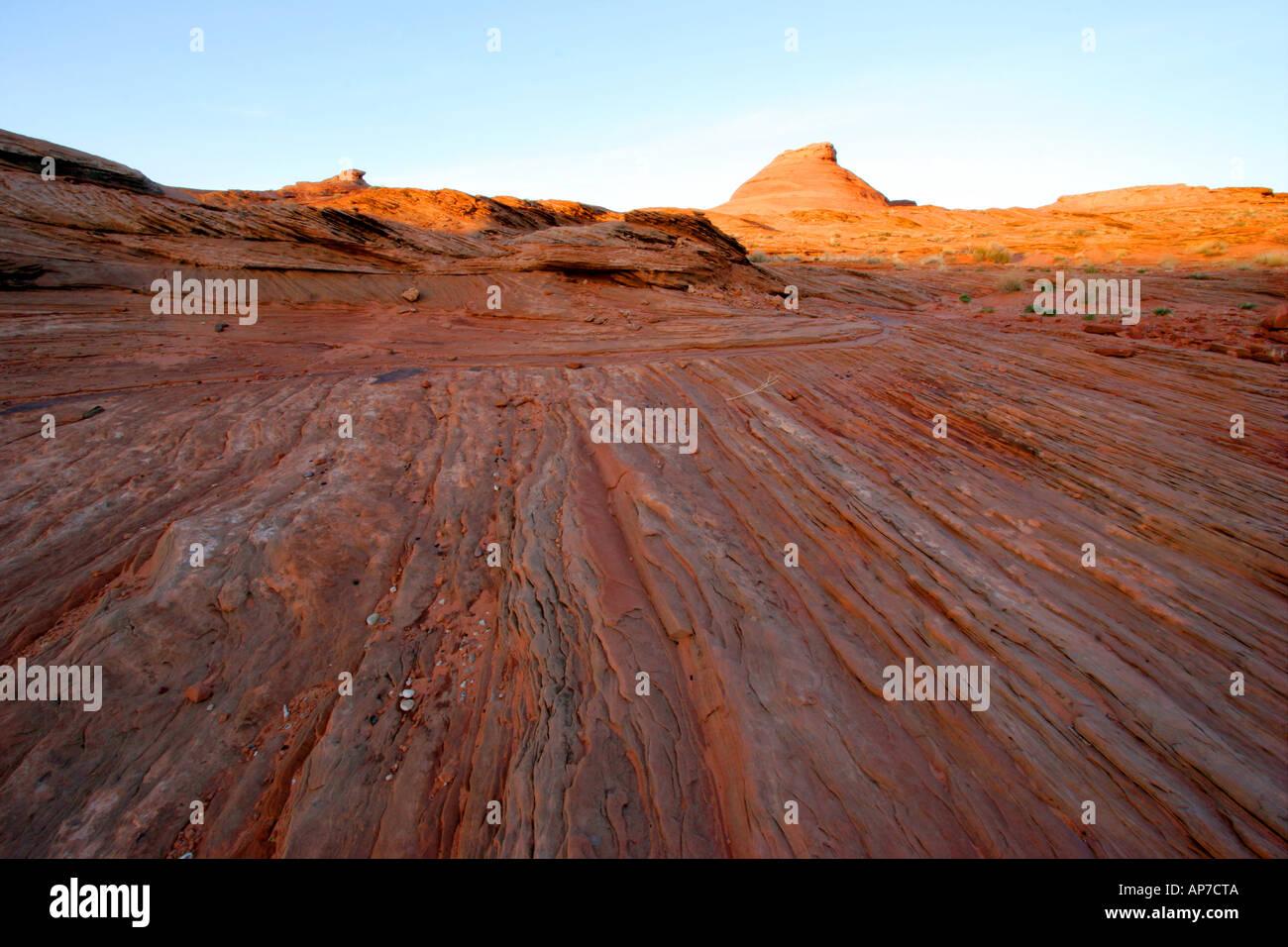 Coucher du soleil près de page, arizona Banque D'Images