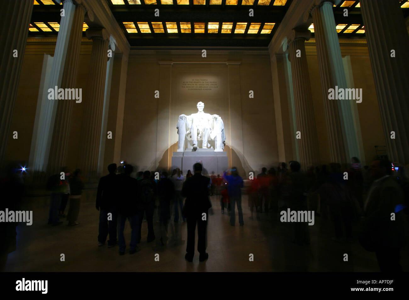 Lincoln Memorial, Washington DC Banque D'Images