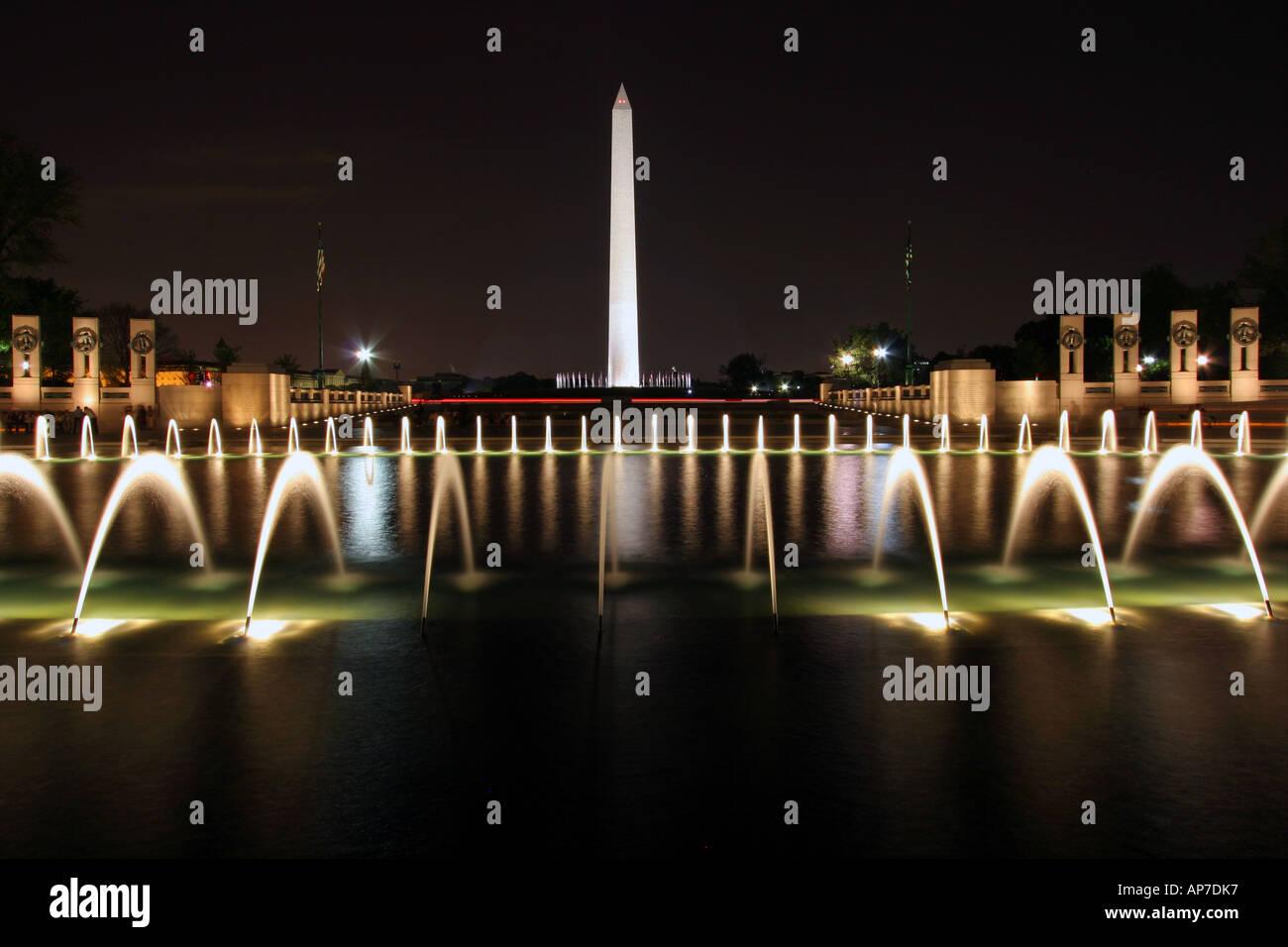 La seconde guerre mondiale memorial, washington dc Banque D'Images