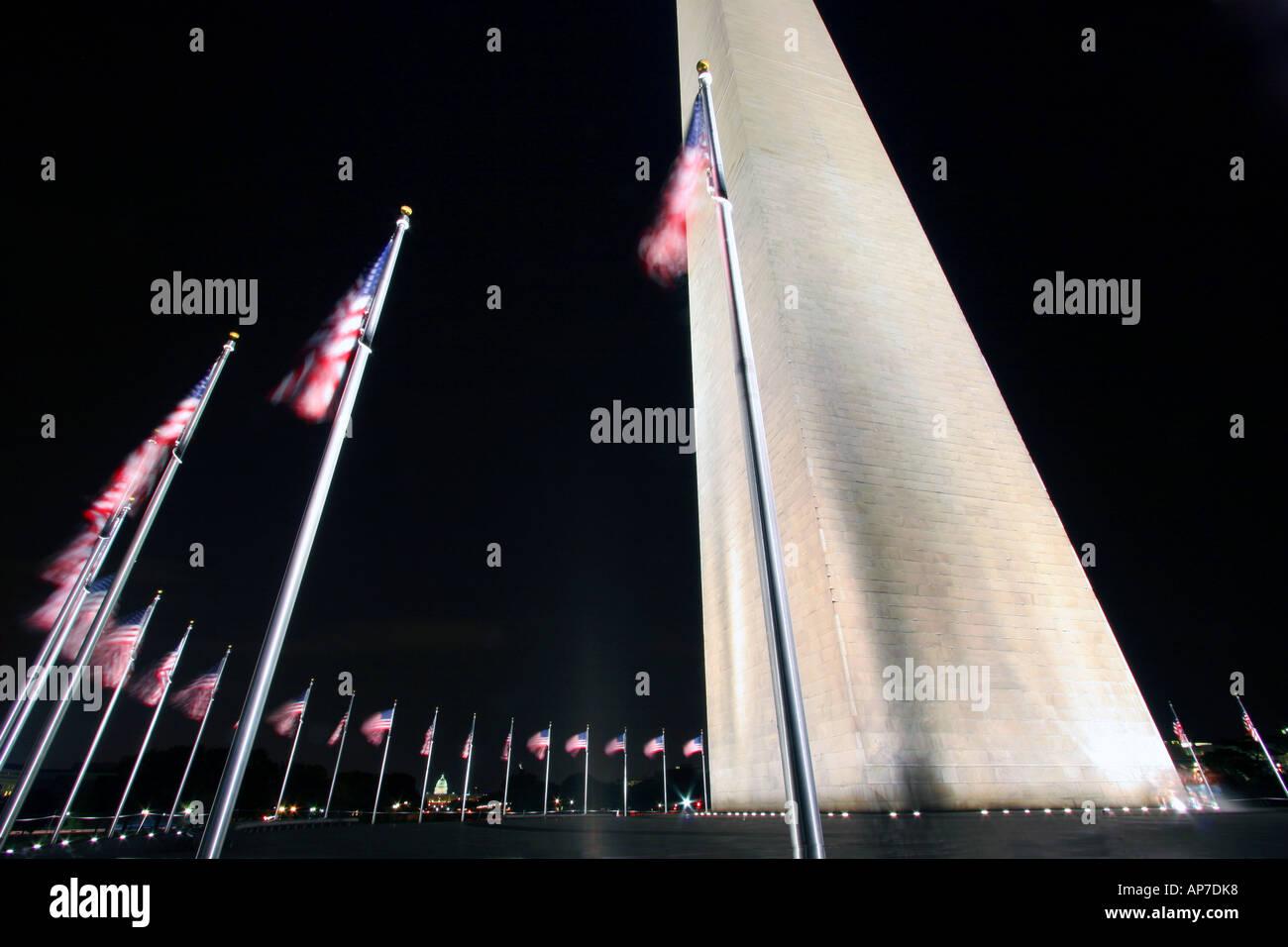 Washington memorial de nuit Banque D'Images