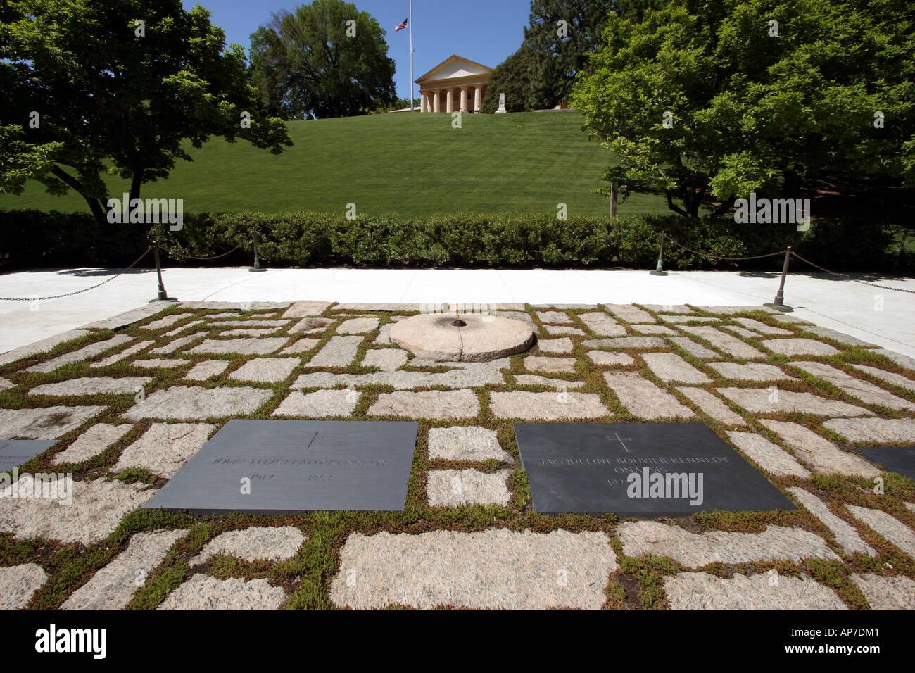 Tombe de john f. Kennedy, le cimetière national d'Arlington Banque D'Images