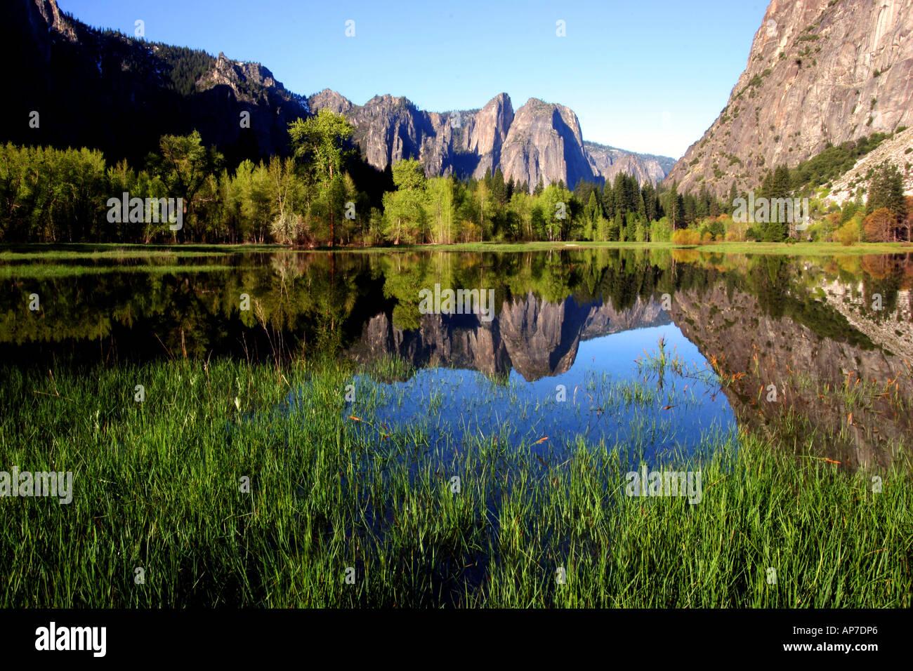 Réflexion pré leidig, Yosemite National Park Banque D'Images