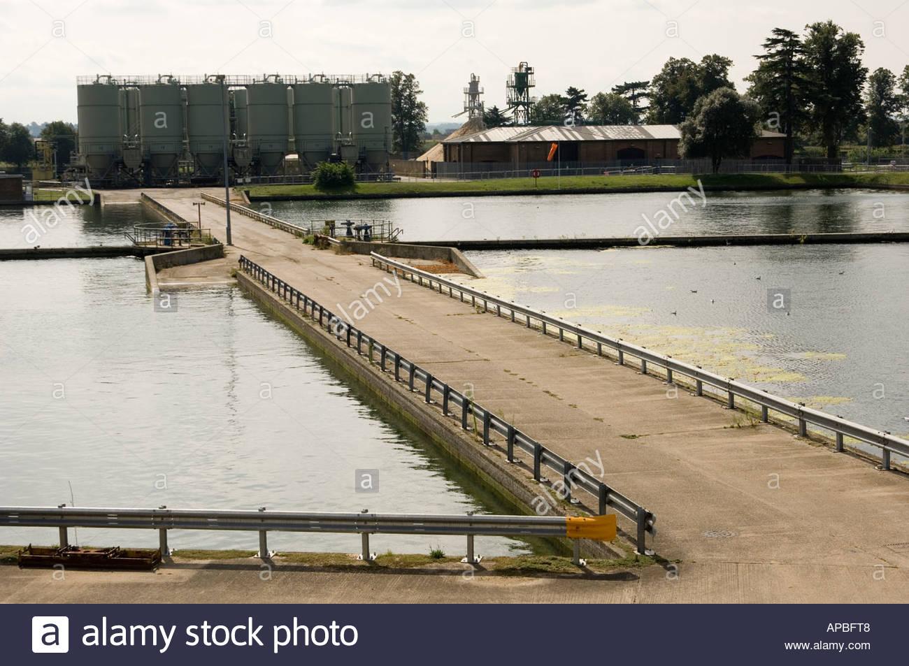 Réservoirs appartenant à Thames Water en Hampton West London Photo Stock