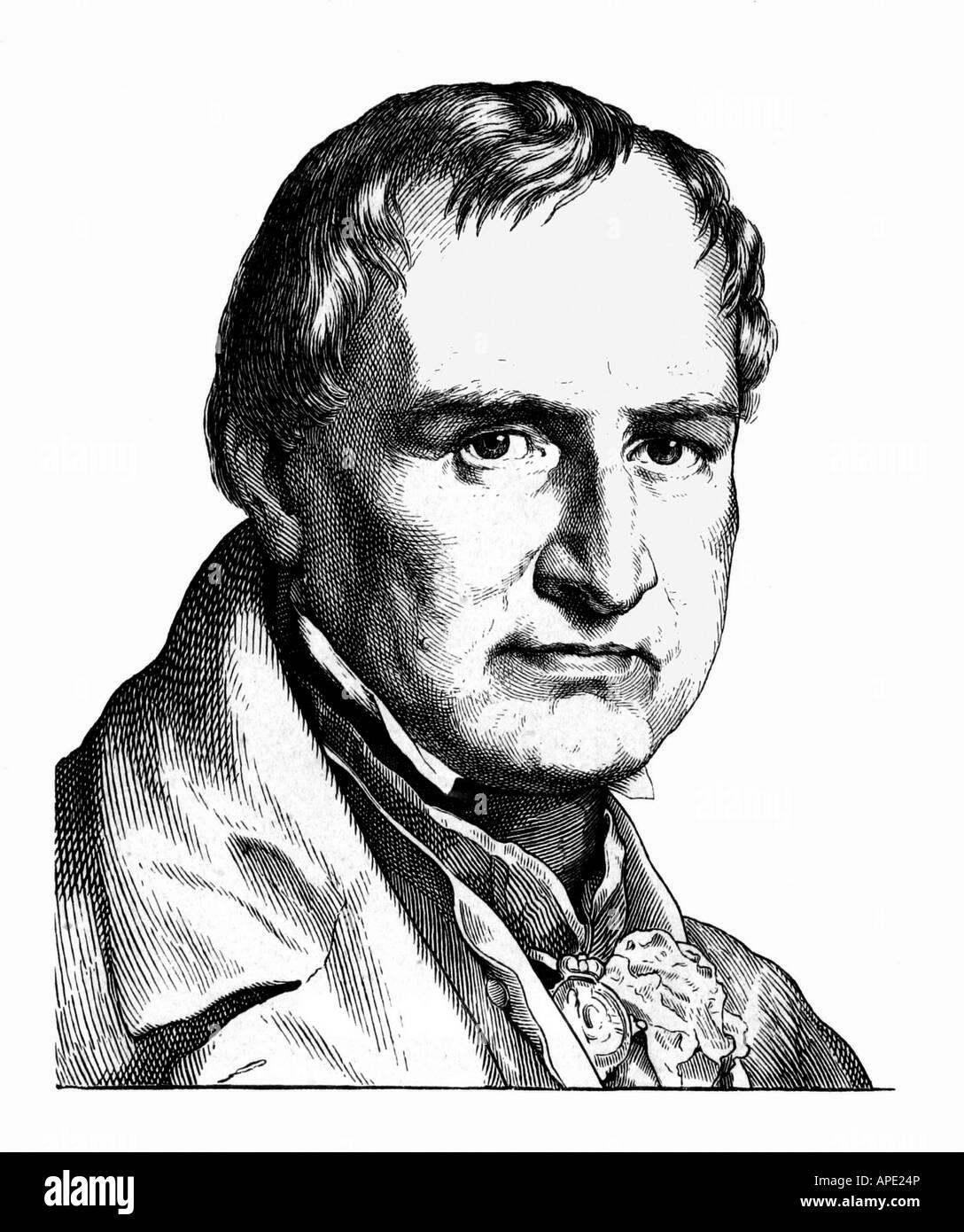 Leopold von Buch, chrétiens, 26. 4,1774 - 4.3.1853, géologue allemand, portrait, gravure sur acier, 19e siècle, l'artiste n'a pas d'auteur pour être effacé Banque D'Images