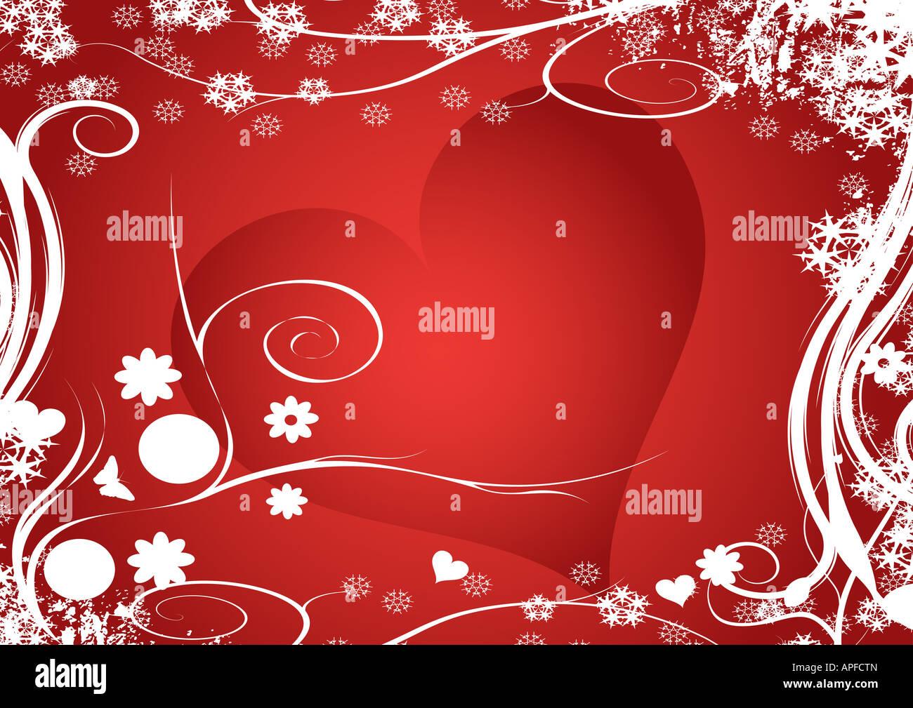 Vector coeur floral design Photo Stock