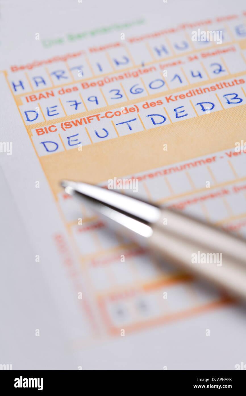 Formulaire De Transfert Pour Les Transferts Internationaux Avec Iban