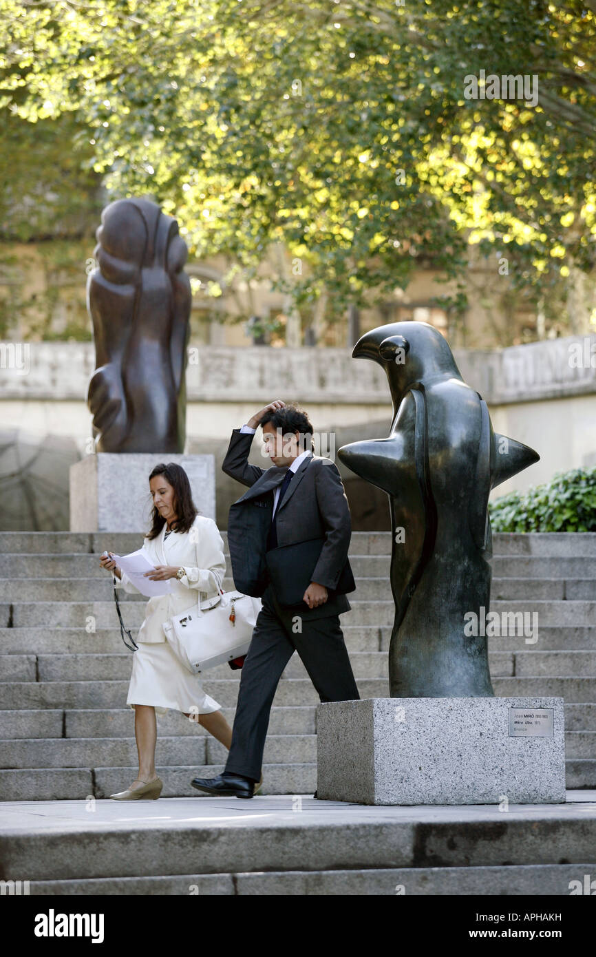 Miro sculpture, Museo de Esculturas al Aire Libre, Madrid, Espagne Photo Stock