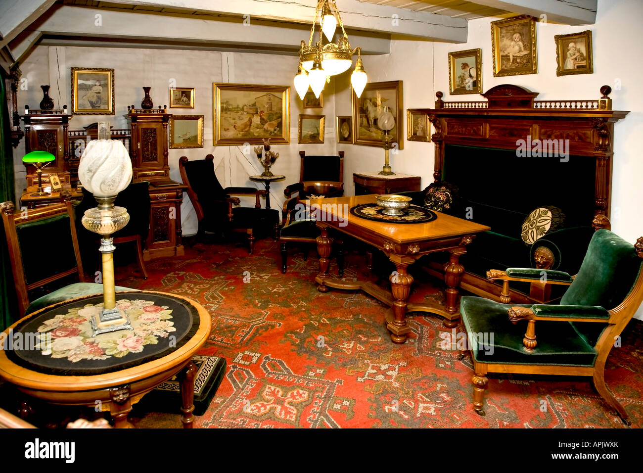 Ancien salon de 1920 Banque D\'Images, Photo Stock: 15807882 - Alamy