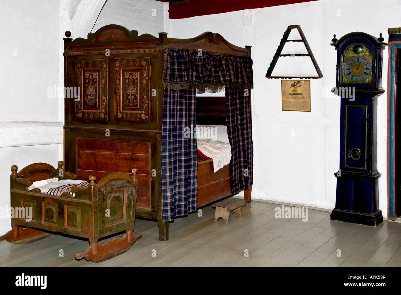Interieur Chambre A Coucher Ancienne Banque D Images Photo