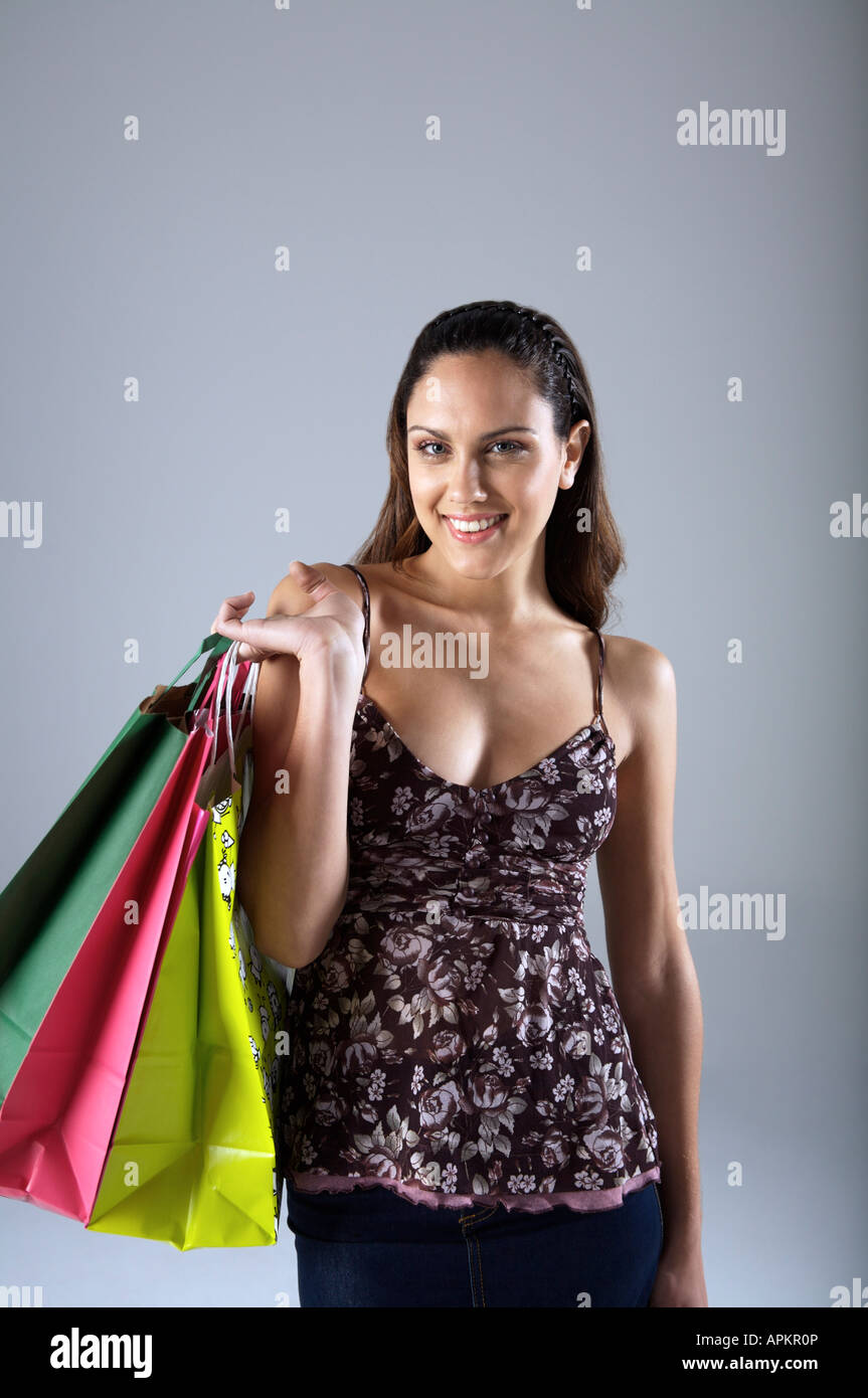 Woman with shopping bags Photo Stock