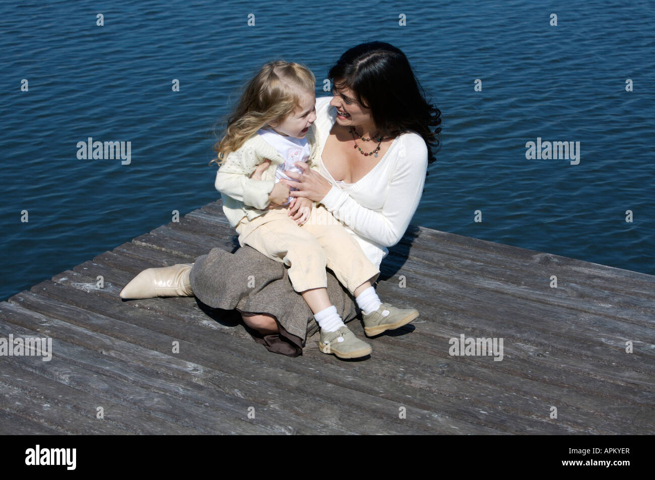Mère et fille Photo Stock