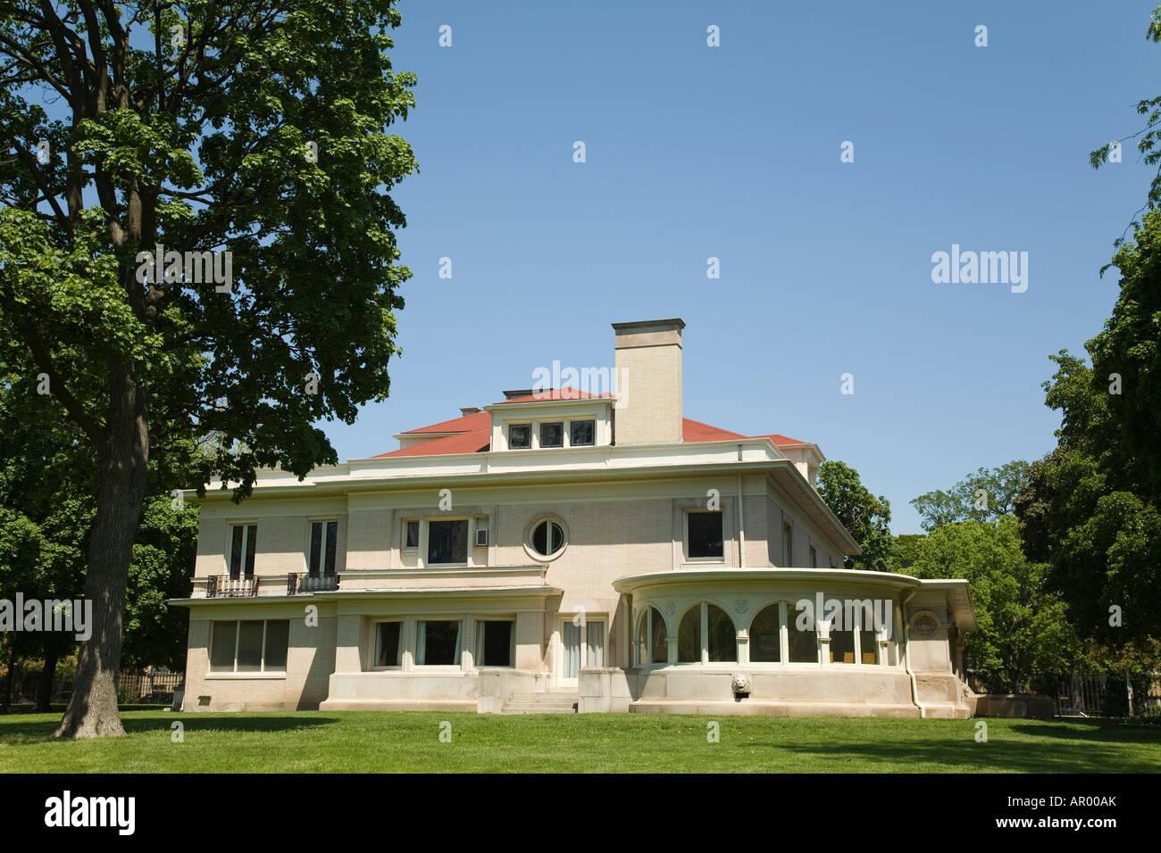 Oak Park ILLINOIS John Farson Accueil agréable chambre prairie de l'architecture scolaire George Maher Photo Stock