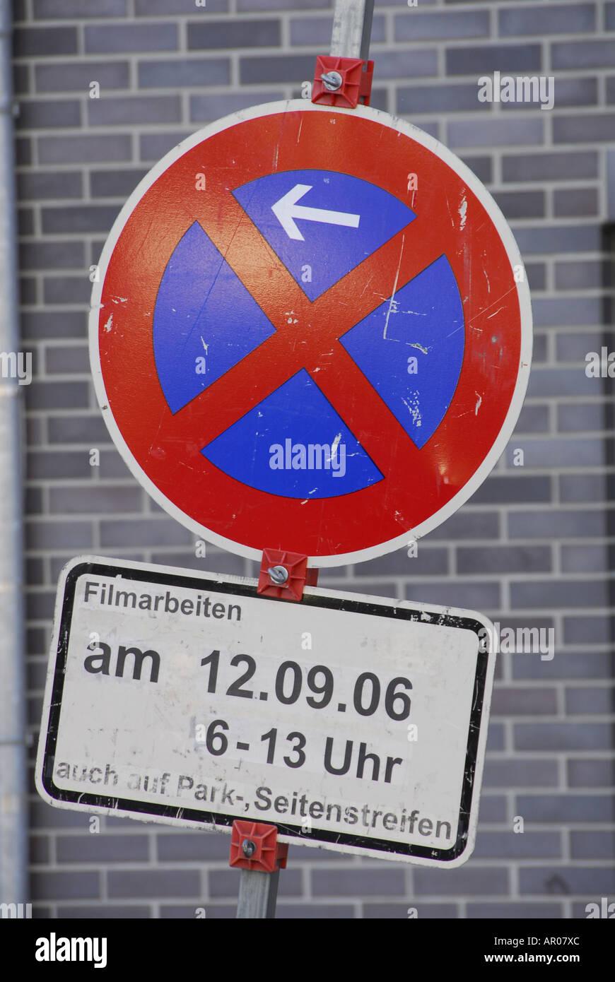 Restriction d'arrêt, l'équipe du film signe Photo Stock