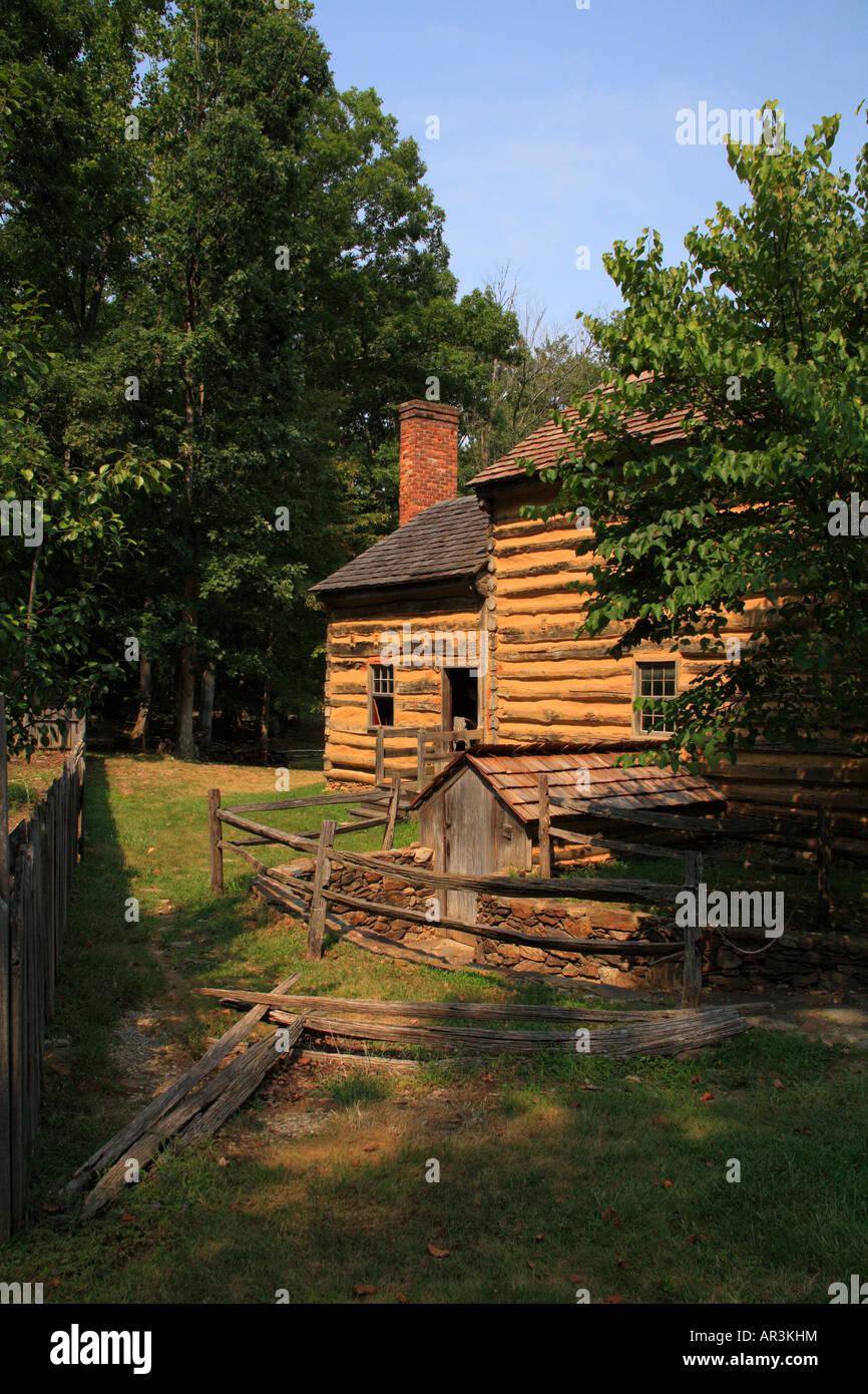 1800's Farm House, Virginia's Explorer Park, Blue Ridge Parkway, Roanoke, Virginie, USA Banque D'Images