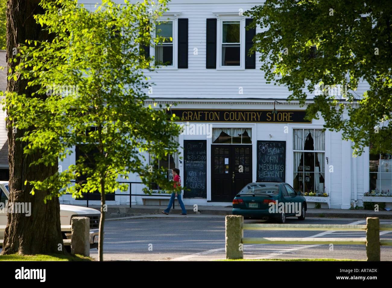 Le Grafton Country Store sur la ville commune dans Grafton, Massachusetts. Banque D'Images