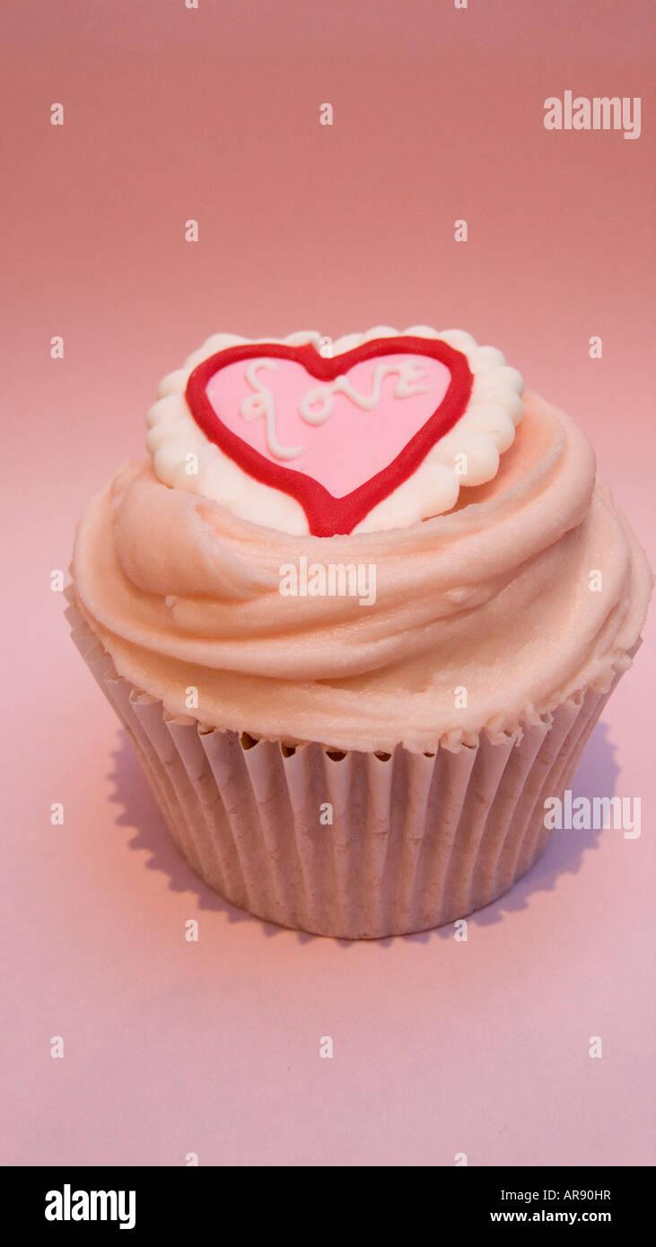 Valentine s Day cupcake Photo Stock