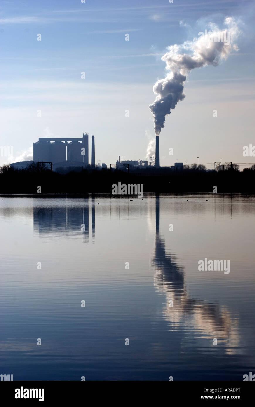 L'usine de sucre britannique UK Newark Photo Stock