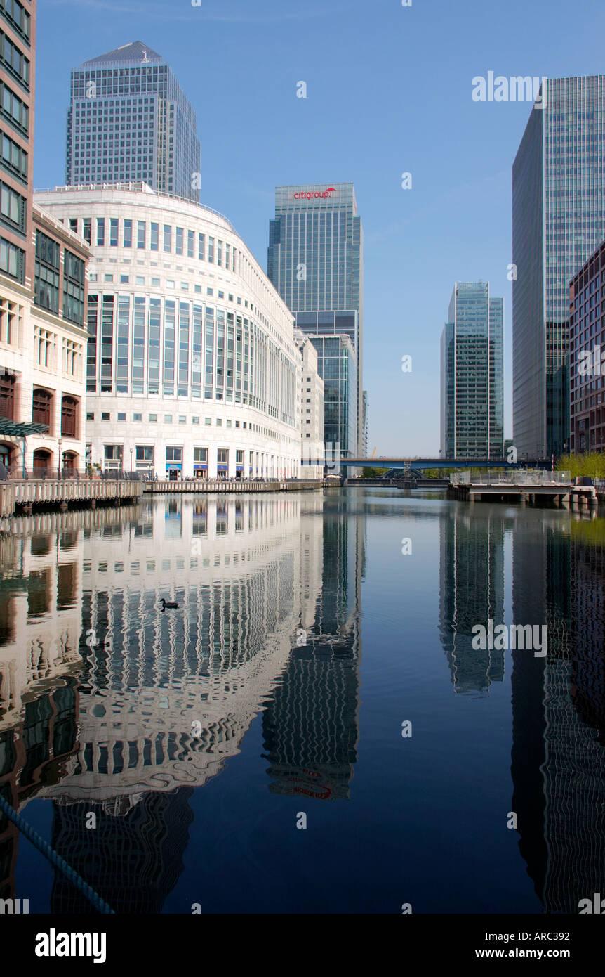 Canary Wharf à Docklands London England Angleterre UK bureaux régionaux de l'architecture moderne Photo Stock