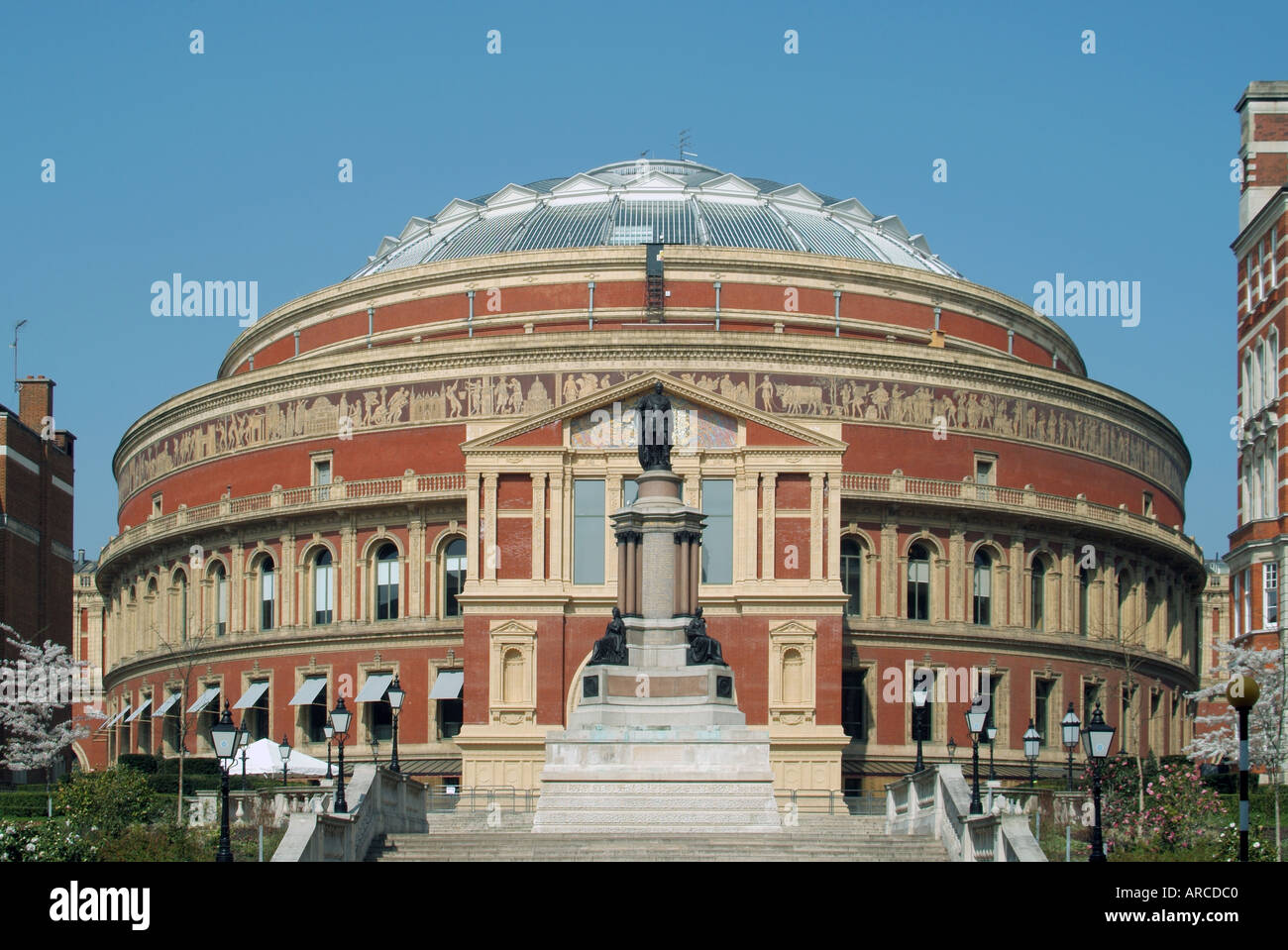 Royal Albert Hall concert hall façade sud South Kensington London England UK Banque D'Images