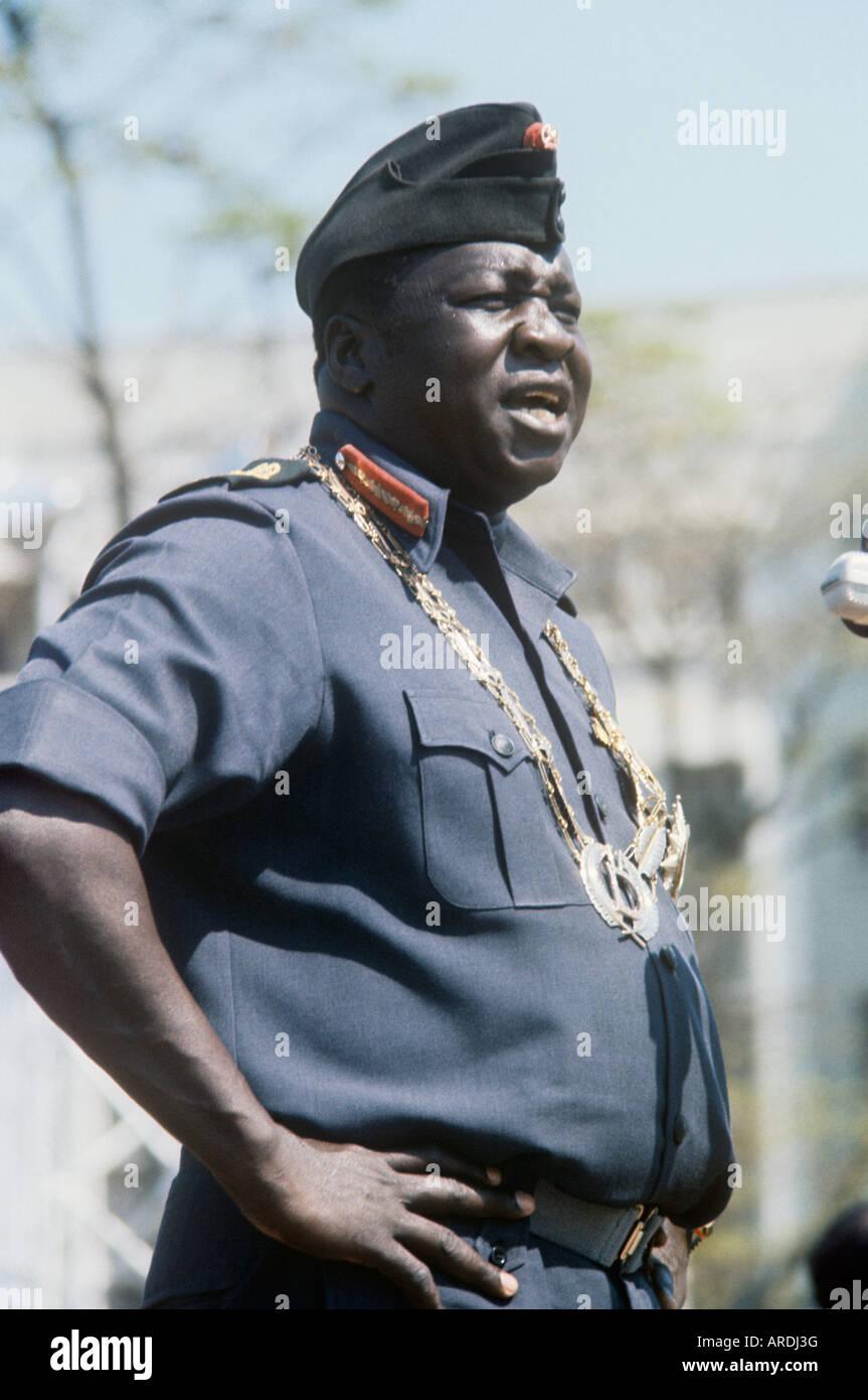 Le président de l'Ouganda, le général Idi Amin Dada affiche une forte personnalité même Photo Stock