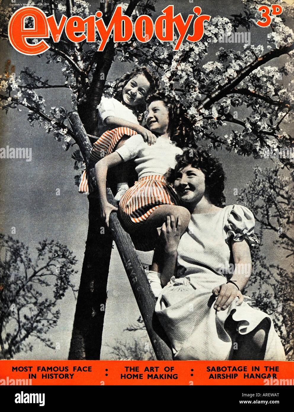 1950 Tout le monde le 18 mars 1950 Magazine pour un usage éditorial uniquement Photo Stock