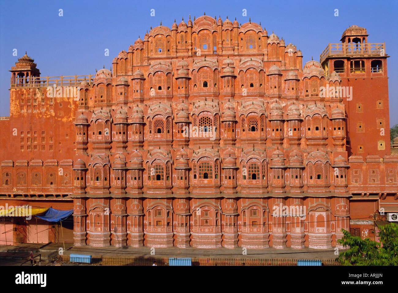 Le palais des vents, le Hawa Mahal, Jaipur, Rajasthan, Inde, Asie Photo Stock