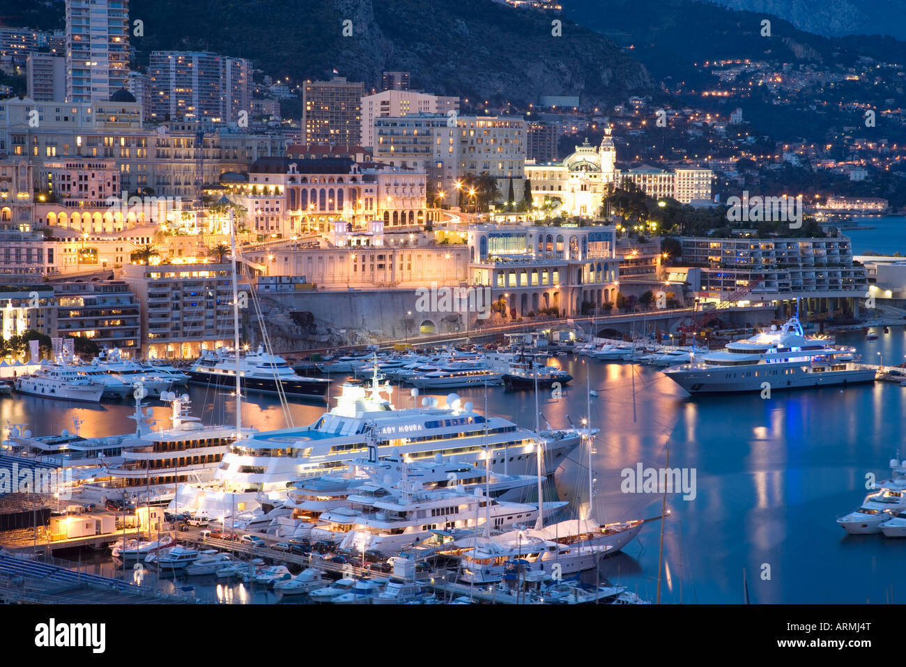 Monte Carlo, Monaco, Cote d'Azur, Méditerranée, Europe Photo Stock