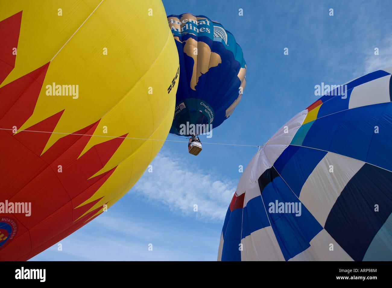 Festival de montgolfières à Château d oex Banque D'Images