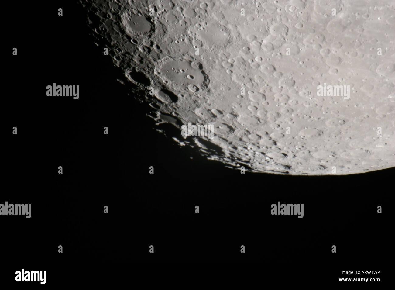 Les cratères de la surface de la lune Photo Stock