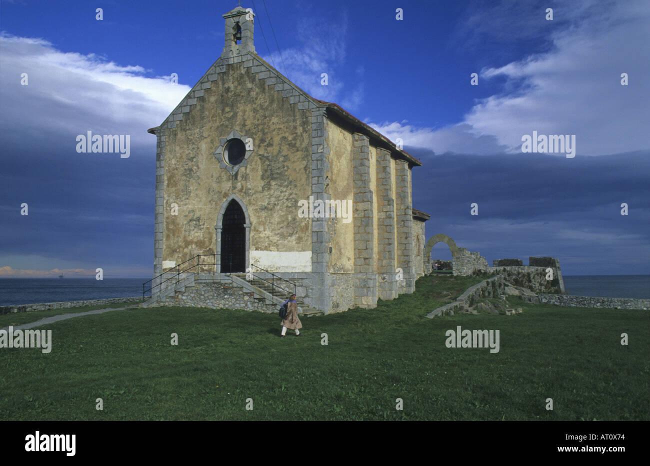 Ermitage de Santa Catalina Mundaka Vizcaya Pays Basque Espagne Photo Stock