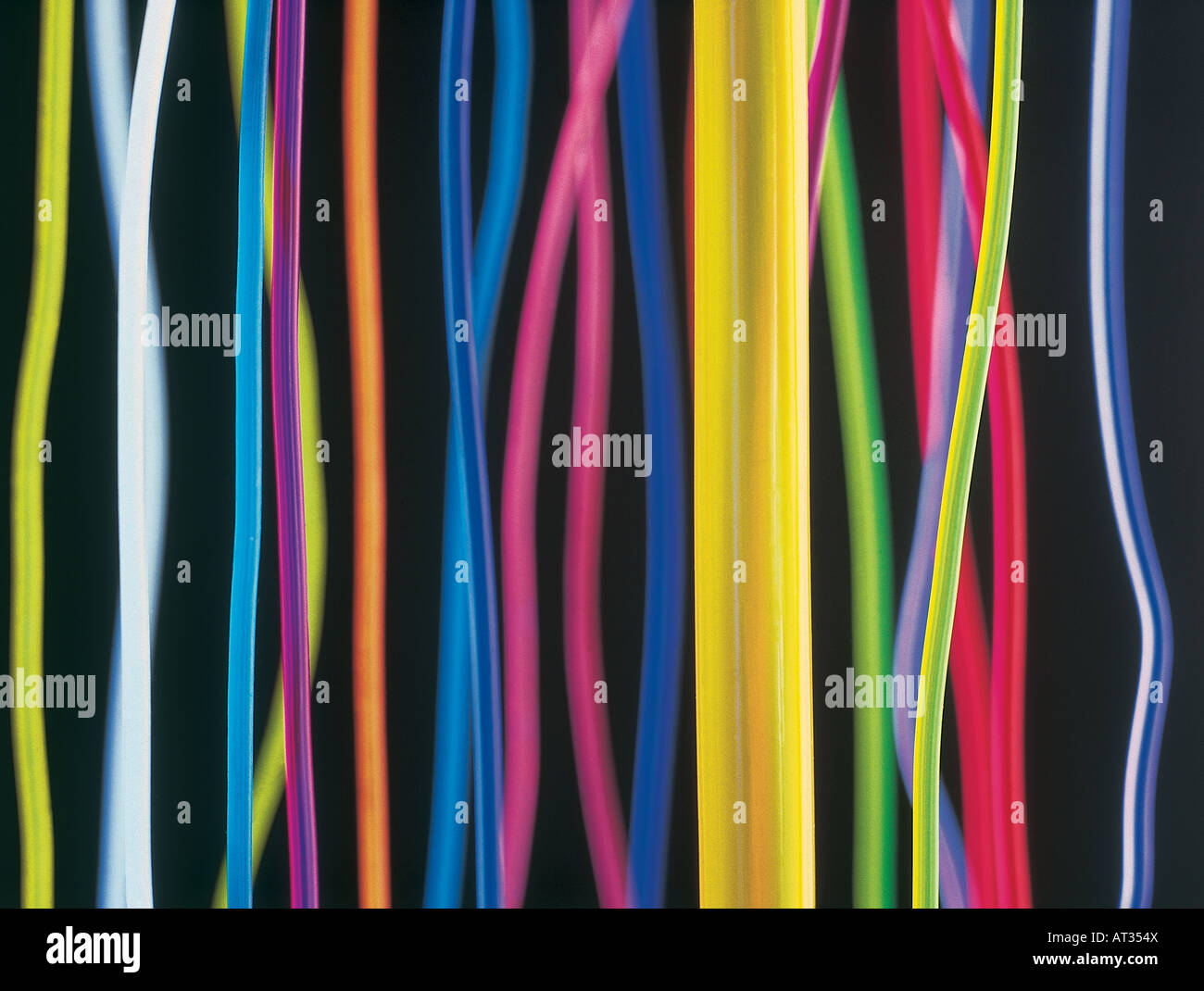 Image abstraite de câbles de couleur Photo Stock