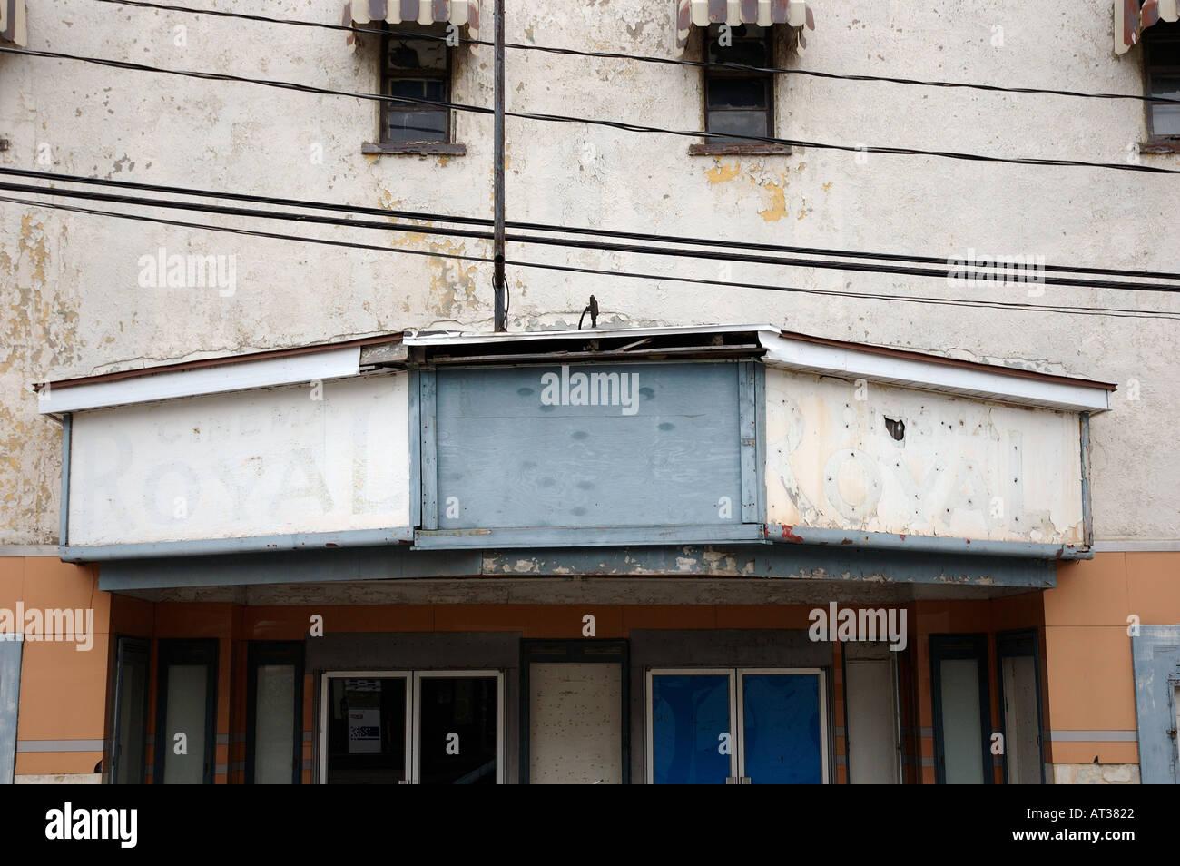 Un vieux théâtre abandonné et à Donnacona Québec Canada Photo Stock
