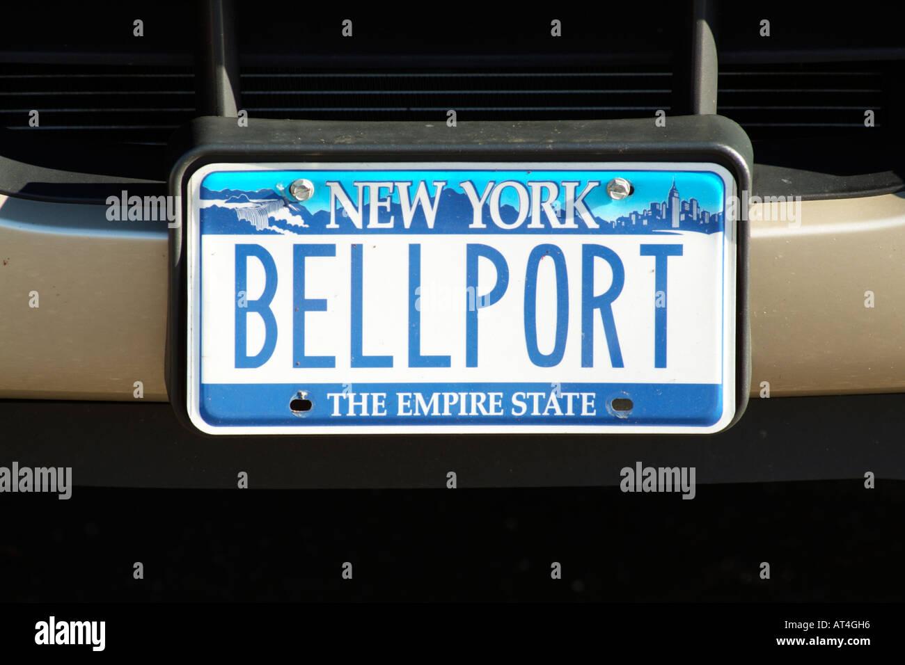 la plaque d 39 immatriculation de voiture new york etats unis nombre plaque l 39 aide de la ville. Black Bedroom Furniture Sets. Home Design Ideas