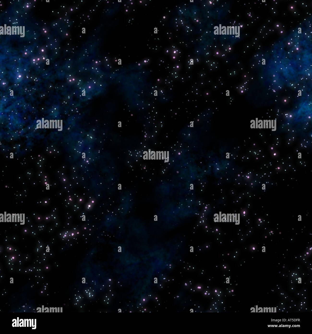 Image de la nébuleuse d'étoiles et nuages dans l'espace profond Photo Stock