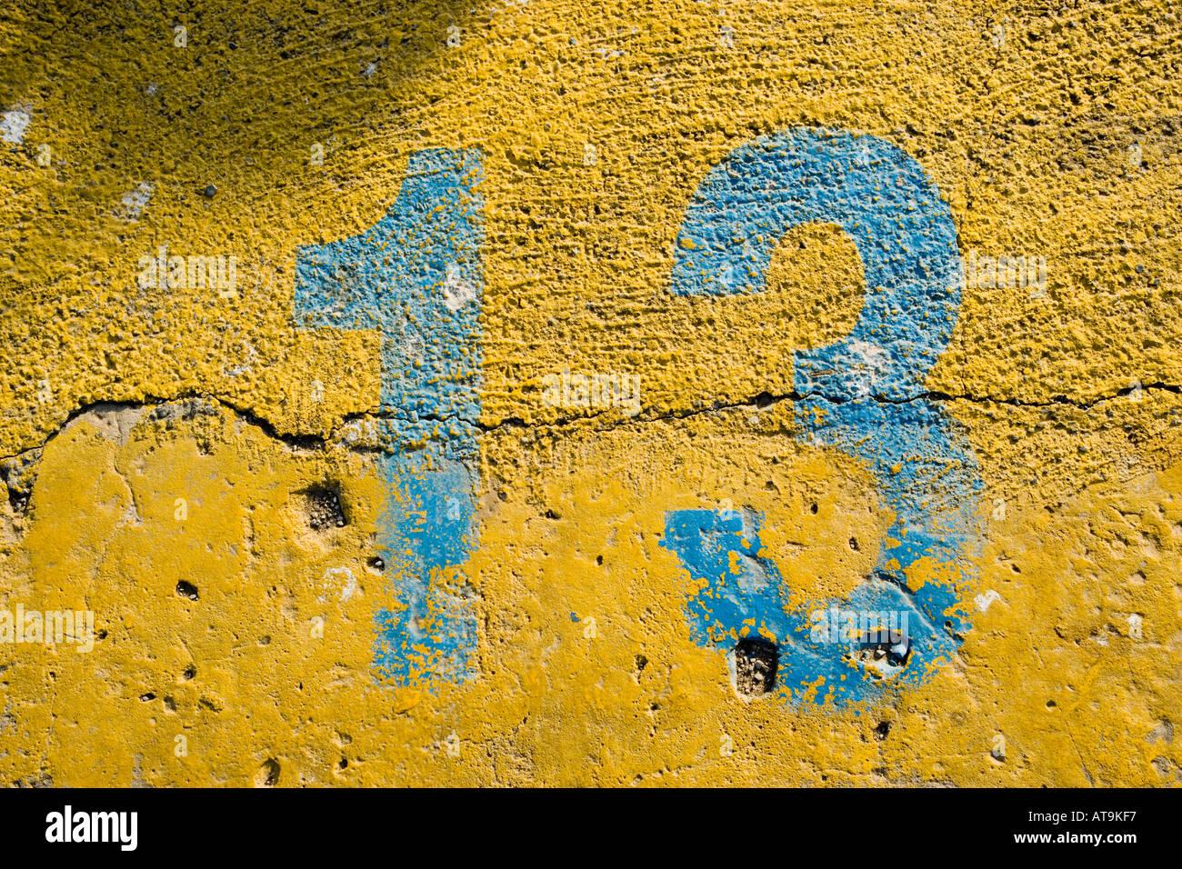 Numéro treize 13 un trois Photo Stock