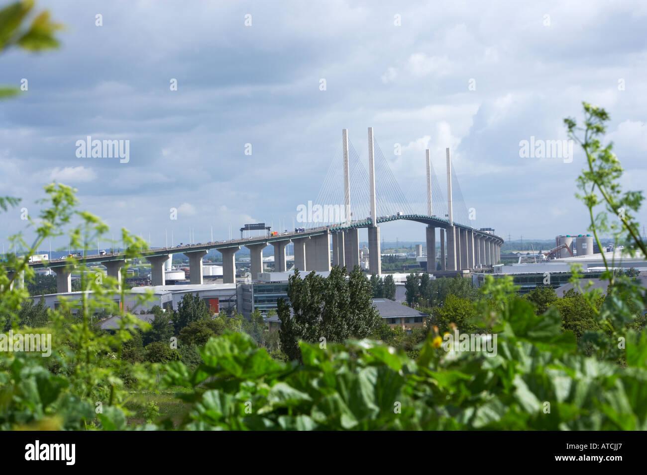 Le QE2 Suspension Bridge, à la Dartford Crossing sur le M25 Banque D'Images