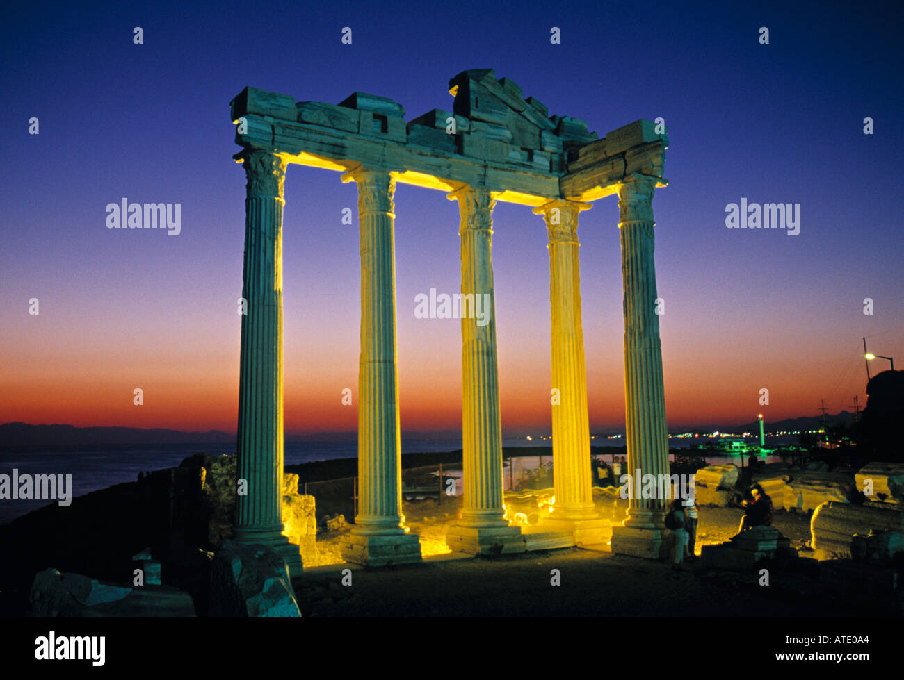Temple d'Apollon, Side, Turquie Photo Stock