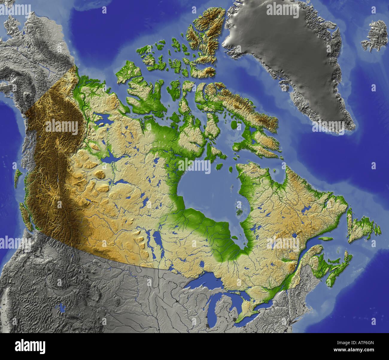 Carte Altitude Canada.Carte Topographique Photos Carte Topographique Images Alamy