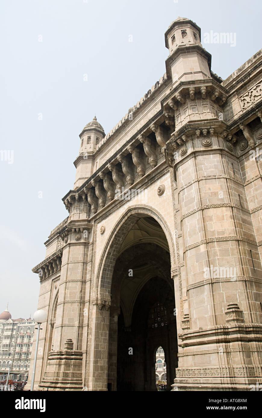 Archway coloniale à Mumbai Photo Stock
