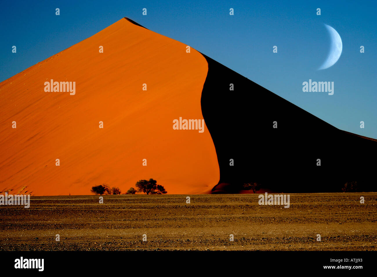 La Namibie Afrique Sesriem Sossusvlei sand dune Photo Stock