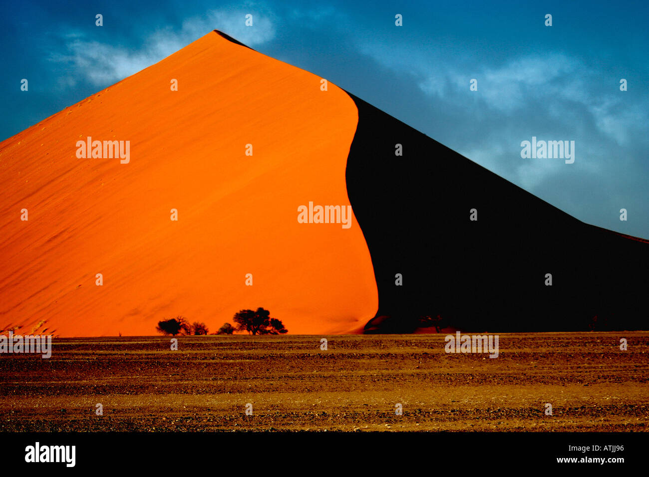 La Namibie Afrique Sesriem Sossusvlei sand dune Photo Stock