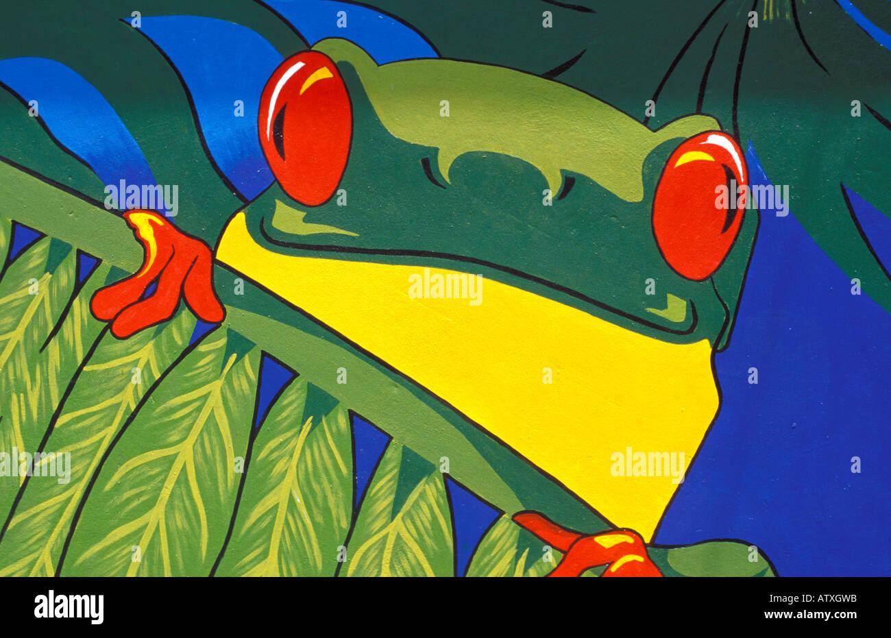 ¿½Ao murale Curaï island Netherlands Antilles Caraïbes Amérique centrale Banque D'Images