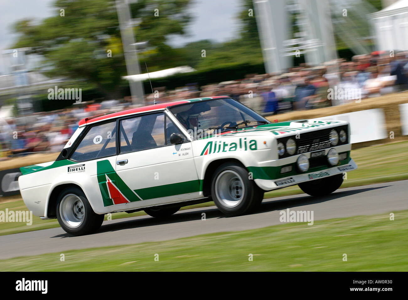 1976 Fiat 131 Abarth à Goodwood Festival of Speed, Sussex, UK. Photo Stock