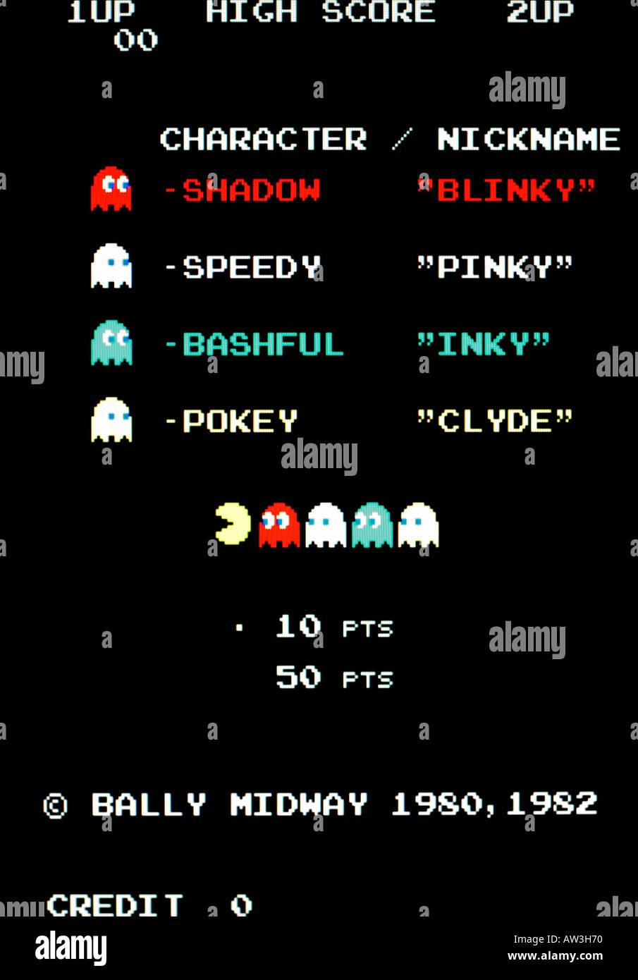 super popular 21435 491be Pac Man Pacman Plus Bally Midway Arcade Vintage 1982 capture d écran de jeux  vidéo